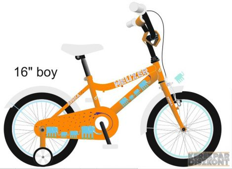 """Kerékpár Neuzer BMX 12"""" fiú/unisex"""