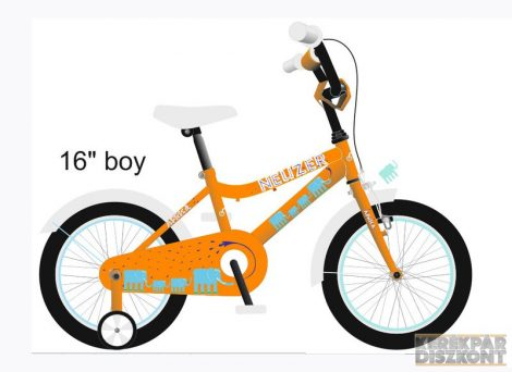 """Kerékpár Neuzer BMX 16"""" fiú/unisex"""